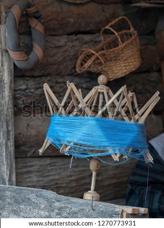 old winder of wool #1270773931