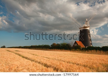 Old windmill in Wells - next the sea in Great Britain