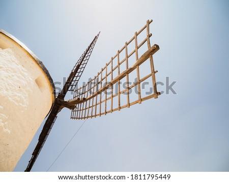 Old windmills in Consuegra, Castilla La Mancha, Spain Foto stock ©
