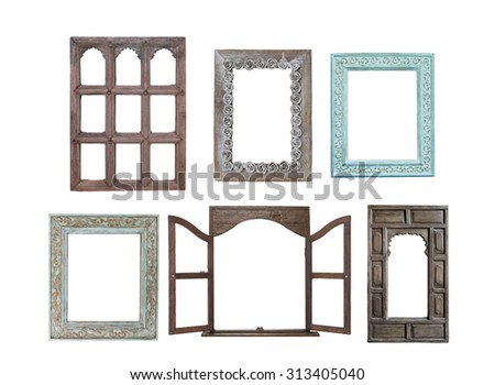 Free photos Old wooden window frame, thai style | Avopix.com