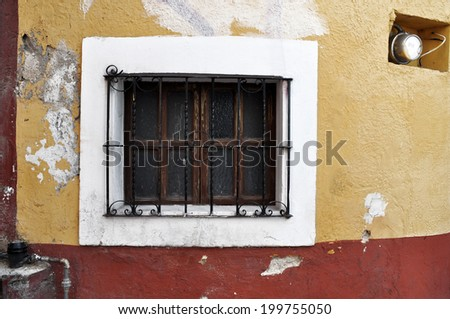 Old window, Front of an old mexican house - San Miguel de Allende Mexico