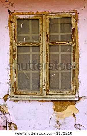 old window in house - stock photo