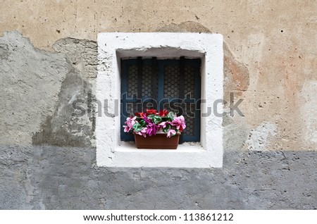 Old window in Italian town