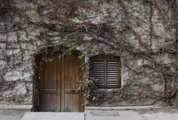 old wine cellar entrance