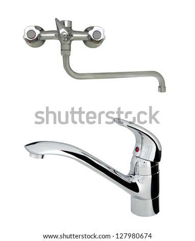 old with modern stainless steel tap