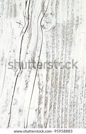 Old Wood Background painted white