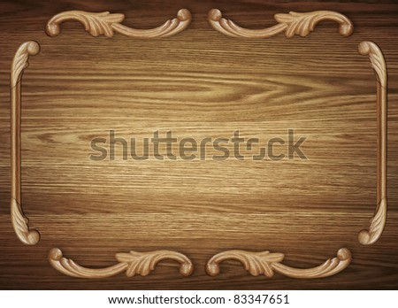 Old wood background with pattern - stock photo