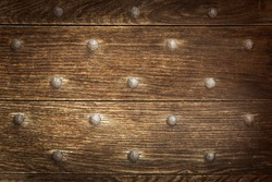 Old Wood background with studs