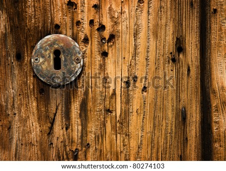 Old wood backgrounds with keyhole