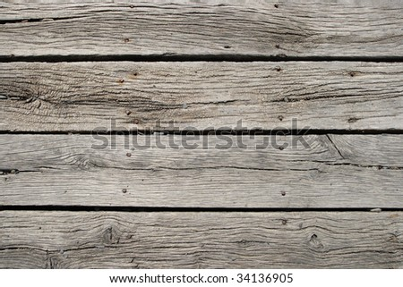 Old wood board background closeup - stock photo