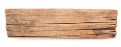 old wood board isolated on white background.