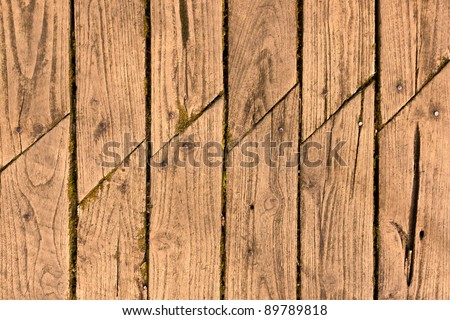 Old wood boards with joint wood - stock photo