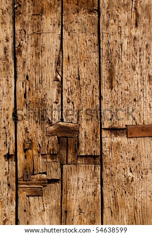 Old wood door detail