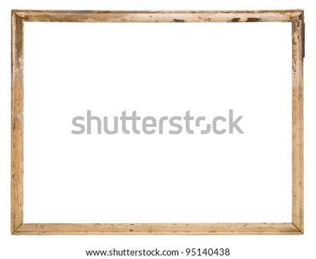Old wood frame isolated on the white