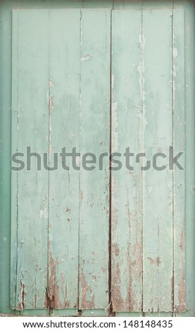Old wood planks texture backdrop frame with peeling paint