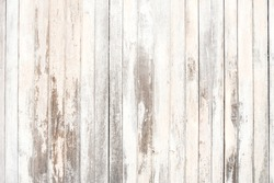 Old wood texture and background in vintage tone. Plank light brown wooden wall background.
