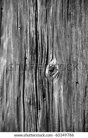 Old wood texture black and white - stock photo