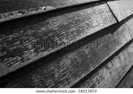 Old wood texture in black and white