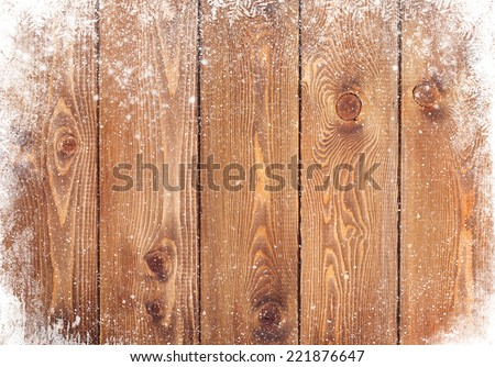 old wood texture with snow...
