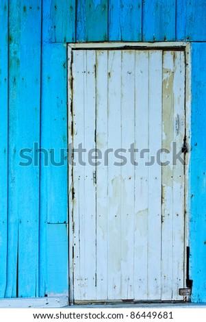 Old wood wall and door
