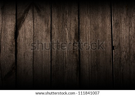 old  wooden background, horizontally placed