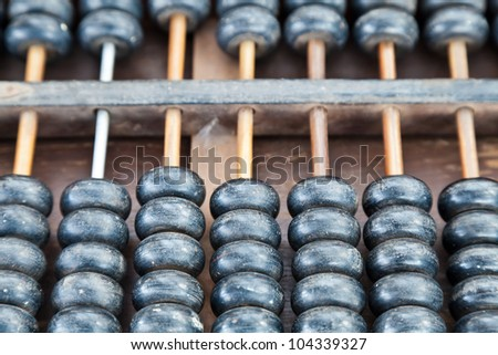 old wooden ball of abacus
