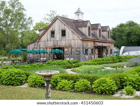 old wooden barn on a farm in...