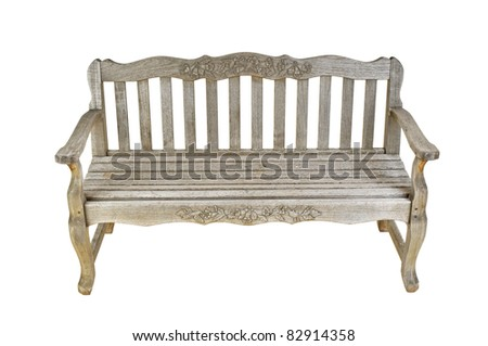 Old wooden bench - isolated