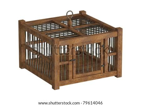 timber bird cage 2