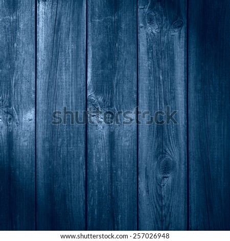 old wooden blue planks background or organic texture