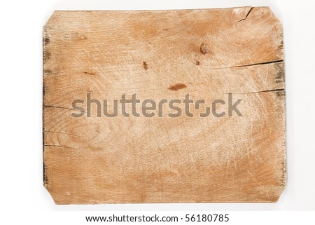 old wooden board with cracks and age marks