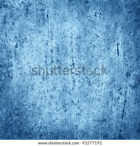 old wooden board with textures brushes background blue