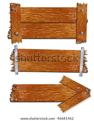 Old wooden boards and planks-vector id=45554431