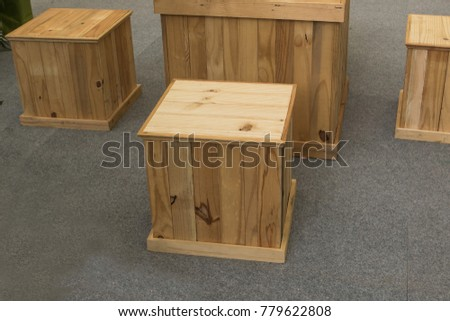 Old wooden box made furniture. #779622808