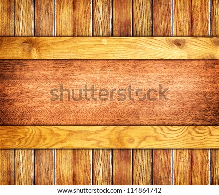 old wooden brown background. Your text here. - stock photo
