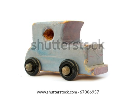 Old wooden car toy