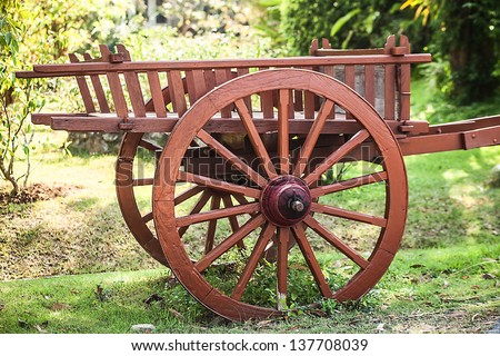 Old wooden cart #137708039
