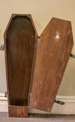 old wooden casket