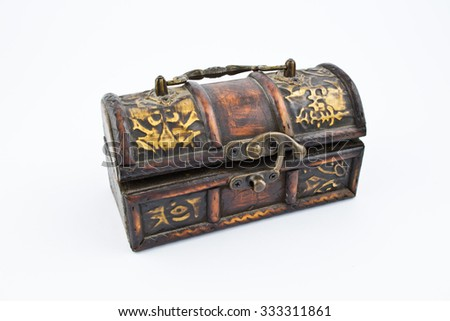 Old Wooden Chest With Decorations Used To Store Expensive Things Simple Decorating With Old Wooden Boxes