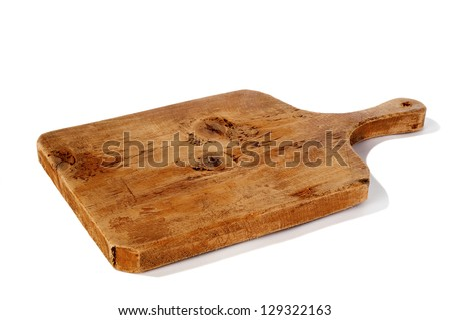 Old  wooden cutting board Сток-фото ©