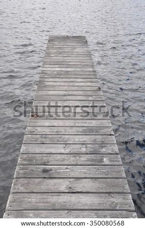 old wooden dock