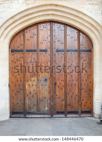 Old wooden door background (Oxford)