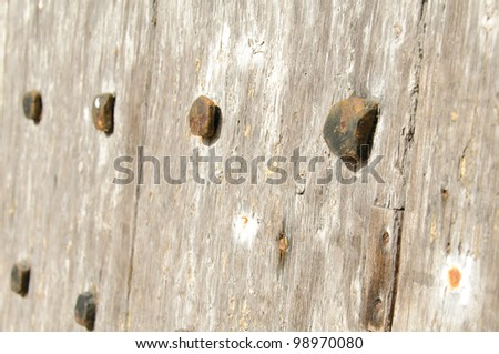 old wooden door closeup