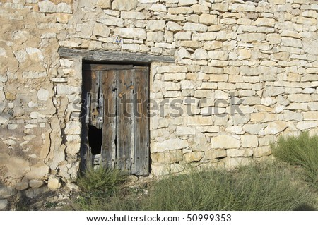 old wooden door in an old country house