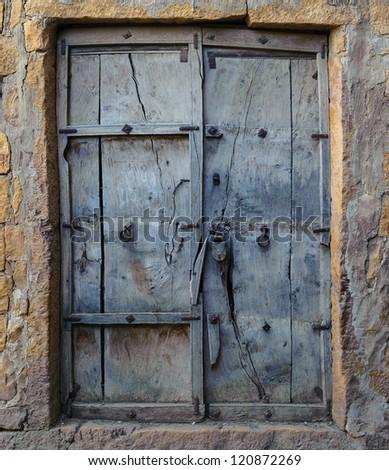 Old wooden door vintage background