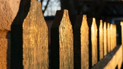 old wooden fence close up