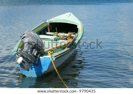old wooden fishing vessel docked