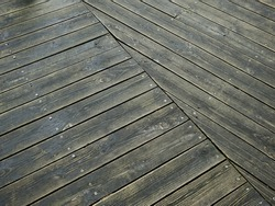 old wooden floor for garden walkway