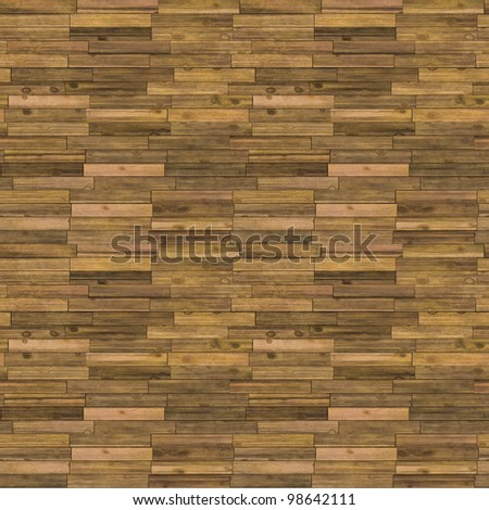 Old Wooden Floor Seamless Pattern - Hyper Realistic Bitmap Illustration