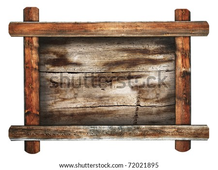 Old Wooden Picture Frames Old Wooden Frame on White